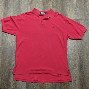 Polo by Ralph Lauren Red Collared Shirt button